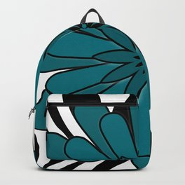 Blue flower . Backpack
