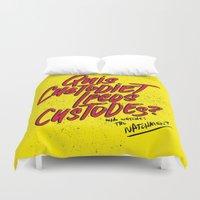 watchmen Duvet Covers featuring Watchmen by Chelsea Herrick