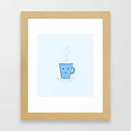 Happy Mug Framed Art Print