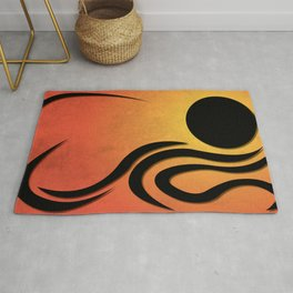 Curvilinear Composition Rug