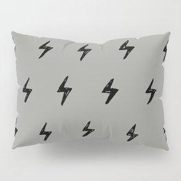 Gray & Black Lightening Bolt Pattern Pillow Sham