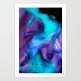 Fluid dreams of breathing Art Print