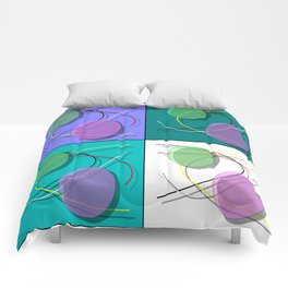 Abstract 50's style - 001 Comforters