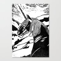 unicorns Canvas Prints featuring Unicorns by Lily Livingston