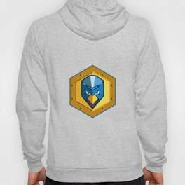 Cyber Punk Chicken Hexagon Icon Hoody