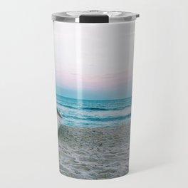 boat on beach Travel Mug