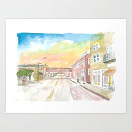 Sunset on Cannery Row Monterey California Art Print