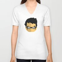 nightwing V-neck T-shirts featuring Nightwing by Oblivion Creative