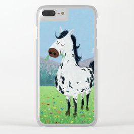 Spotty Horse Clear iPhone Case