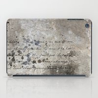 letter iPad Cases featuring LETTER by ED design for fun
