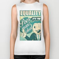 equality Biker Tanks featuring Equality by Sophie Broyd