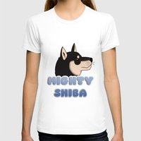 shiba T-shirts featuring Mighty Shiba by Cheesey