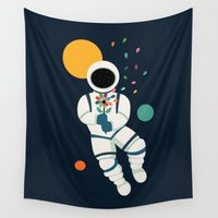 spaceman Wall Tapestries featuring Last Beautiful by Andy Westface