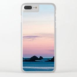 Pouldu Beach Sunset Clear iPhone Case