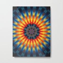 Sun Mandala Metal Print