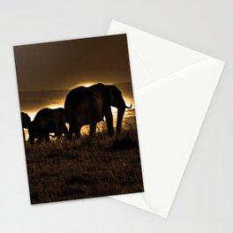 Elephant Herd On The Masai Mara Stationery Cards
