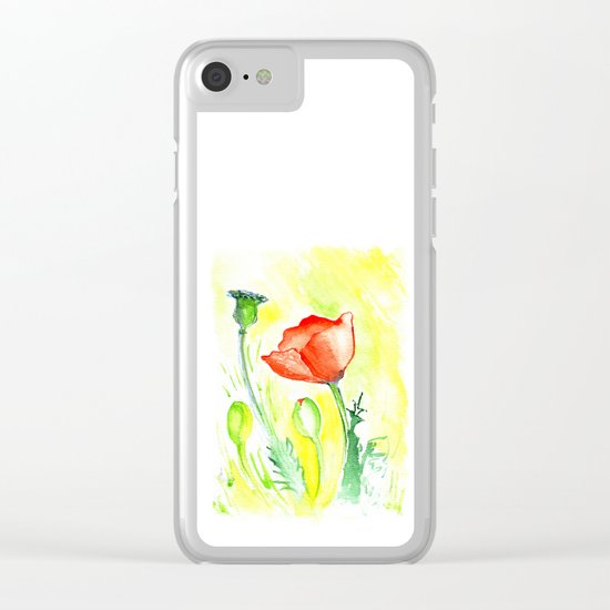 Papaver III Clear iPhone Case