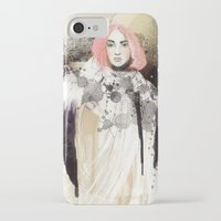 fashion illustration iPhone & iPod Cases featuring FASHION ILLUSTRATION 13 by Justyna Kucharska