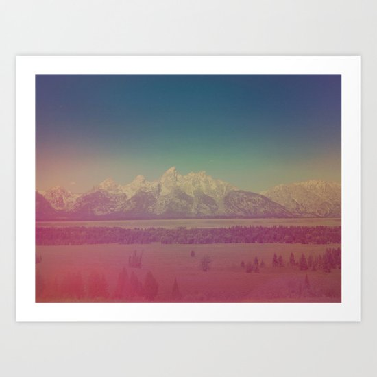 Teton Mountains Art Print