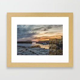 Lobster Trap sunset at lanes cove Framed Art Print