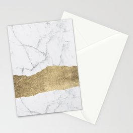 Elegant faux gold foil gray white modern marble Stationery Cards