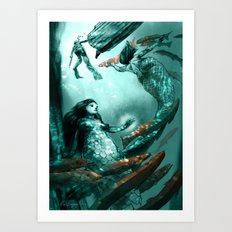 Mermaids Art Print