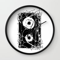 cassette Wall Clocks featuring cassette by barmalisiRTB