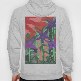 Twilight Sun Garden Floral Art Hoody