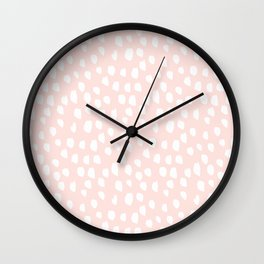 Hand drawn dots on pink - Mix & Match with Simplicty of life Wall Clock