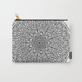 Circle of Life Mandala Black and White Carry-All Pouch