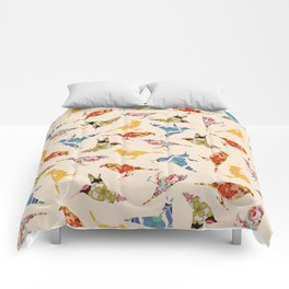 Vintage Wallpaper Birds Comforters