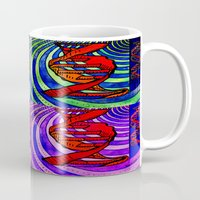 dna Mugs featuring DNA by Art By Carob