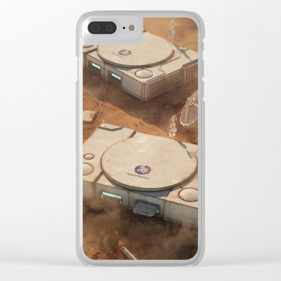 SpaceStation 1 Clear iPhone Case