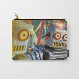 Retro Robot, Original Illustration Carry-All Pouch
