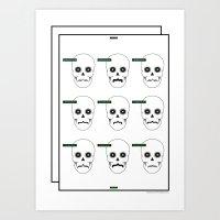 Type Skull Art Print