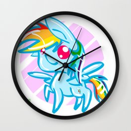 rainbow Dash chibi Wall Clock