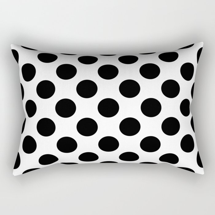 Geometric Pattern 136 (Polka black) Rectangular Pillow