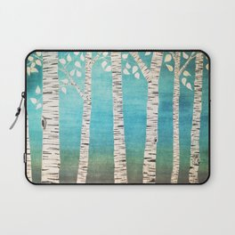 Turquoise birch forest Laptop Sleeve