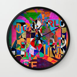Colage 4 Wall Clock