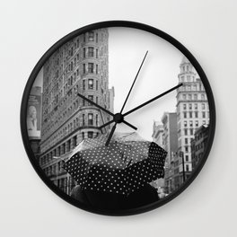 Flatiron Rainy Day II Wall Clock