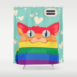 LGBT Cat Shower Curtain