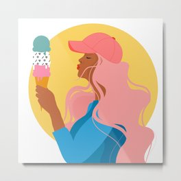 In Love with Ice Cream Metal Print