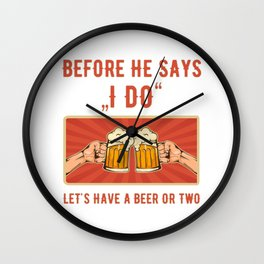 Bachelor Party Groom Funny Group Shirt Party Crew Wall Clock