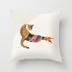 Walking Shadow, Cat 2 Throw Pillow