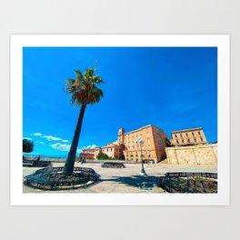 View of Cagliari | Cagliari Sardinia Italy Travel Photography | Travel photo Art Art Print