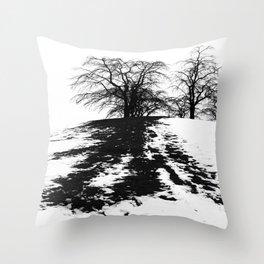 Black on white Throw Pillow