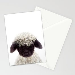 Baby Lamb, Baby Animals Art Print By Synplus Stationery Cards