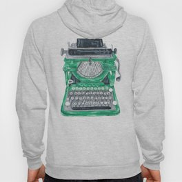 Green Typewriter Hoody
