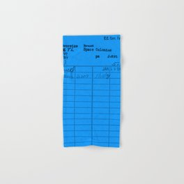 Library Card 797 Blue Hand & Bath Towel