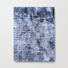 Omaha Nebraska City Map Metal Print